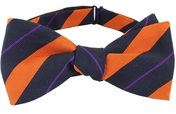 Self Tie Striped Navy/Orange