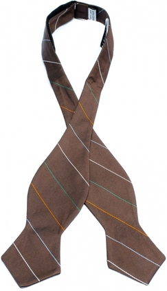 Bergamo Stripes Brown - Oknuten Ivy
