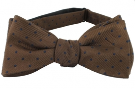 Self Tie Dots Brown/Navy
