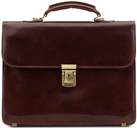 Small Briefcase - Brown Leather