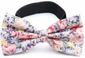 Bow Tie Cotton Collection Blue Flowers