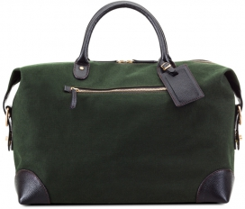 Small Holdall bag - Green Canvas