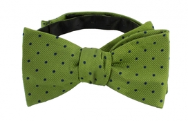Self Tie Dots Green/Navy