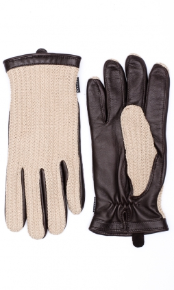 Milland Glove Crochet - Tan/Coffee
