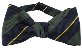 Self Tie Striped Navy/Green