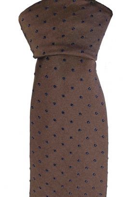 Slim Tie Dots Brown/Navy