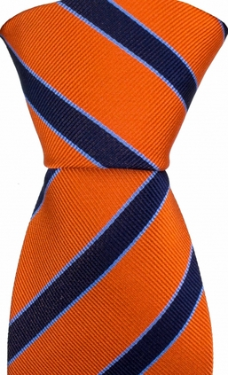 Striped Orange/Navy