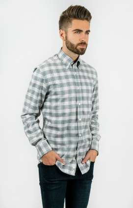 Grå Skjorta | Button Down | Regular Fit