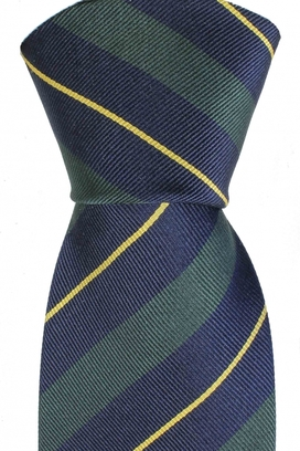 Tie Striped Green/Navy